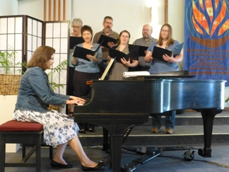 Second Unitarian choir singing during a worship service.
