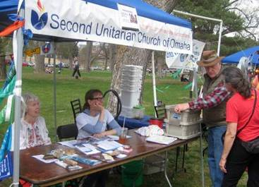 Second Unitarian Booth at Earth Day Celebration