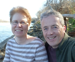 Rick and Kathy Bell in Fontenelle Forest.