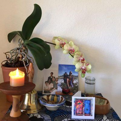 """A home """"altar""""."""